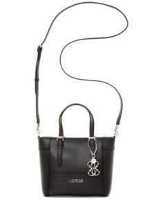 81e650419508 GUESS Delancy Petite Tote with Crossbody Strap - Tote Bags - Handbags  amp   Accessories -