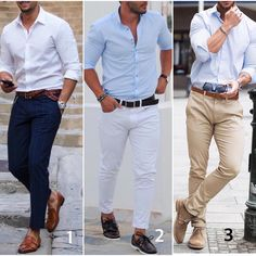 "4,913 Likes, 150 Comments - Modern Men Casual Style (@modernmencasualstyle) on Instagram: ""1,2 or 3? Which casual is your favorite.  #modernmencasualstyle"""