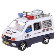 City Police Car Model Toy with Light and Sound 1085
