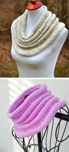 Copycat Cowl – Free Pattern – The Best Ideas Knitting Patterns Free, Knit Patterns, Free Knitting, Baby Knitting, Free Pattern, Knit Cowl, Crochet Beanie, Knitted Shawls, Knit Crochet