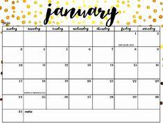 40 Best January 2019 Calendar Printable Free Images