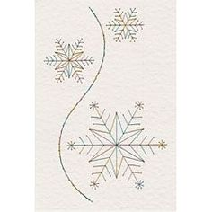 Free Christmas Paper Embroidery Patterns | Stitching Cards Christmas Snowflakes