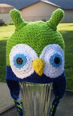 Whooooo wouldn't smile seeing their little one in this adorable owl hat...in fact she makes them for adults too!  MamaJody54 on Etsy.com