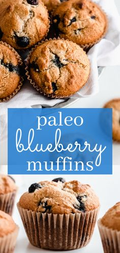 Paleo blueberry muffins are a healthy recipe to make and perfect for your clean eating lifestyle. I used almond and coconut flour to keep these easy paleo blueberry muffins gluten free. They are also dairy free and sweetened with honey. They are the best paleo blueberry muffins! Super moist, full of fresh blueberries, and so simple. Add this to your paleo muffins board! #blueberry #muffins #paleo #cleaneating #easyrecipes #glutenfree #paleo #dairyfree #healthy #simplyjillicious