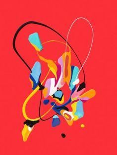 """Saatchi Art Artist Charlie Edmiston; Painting, """"Untitled (splat series #21)"""" #art"""