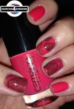 "Searchin 4 Sunshine: [Nails] NailArt-Dienstag: ""Mädchenhaftes"" mit CATRICE 90 She Said Yes In Her Red Dress"