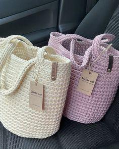 Crochet Rope, Diy Crochet, Crochet Crafts, Crochet Stitches, Crochet Projects, Crochet Patterns, Crochet Handbags, Crochet Purses, Crochet Bag Tutorials