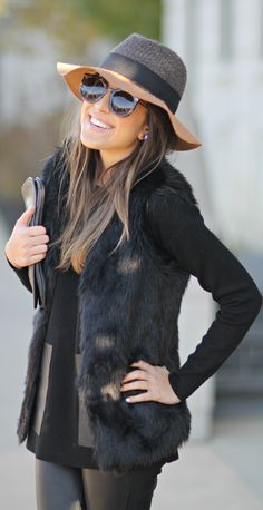 It's the season for warmer layers and touches of faux fur for a cozy touch! A fitted faux fur vest is a must-have in your wardrobe for the fall and winter! Pair with your favorite sweaters/long sleeves with denim and a great pair of boot for a ready-to-go look! What would you pair with a fur vest?