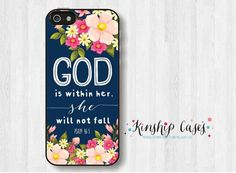 Bible Verse Quote  Psalm 465  She Will not Fall by KinshipCases