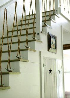 Geländer selber bauen - eigenartige Treppengeländer aus Holz