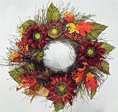 Fall Wreath Cherokee Spirit Of Autumn All Weather Door Wreath Wreaths For Door http://www.amazon.com/dp/B0153NVINQ/ref=cm_sw_r_pi_dp_pX38vb057S589