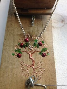 Floating Tree of Life Pendant  Apple Tree by twires on Etsy, £12.00