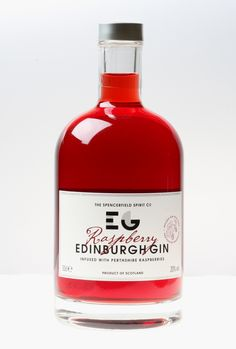 Edinburgh Raspberry Gin - Scottish Raspberries provide the basis for this delicious gin flavour #ScotFood #Gin