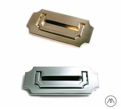 Campaign Furniture Handles - Polished Brass or Chrome
