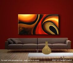 Modern Abstract Artwork   Original Abstract Art - Modern Art and Landscape Paintings by Osnat ...