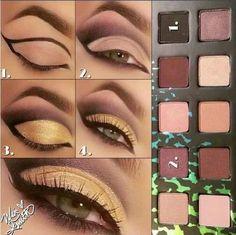 gorgeous goddess gold and natural makeup