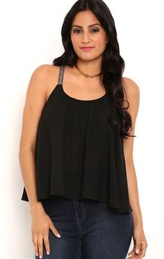 Deb Shops Flowy Tank Top with Tribal Straps