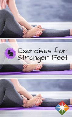 Want stronger feet? We can help with that with these 4 exercises. Tap, stretch and strengthen your way to strong feet.