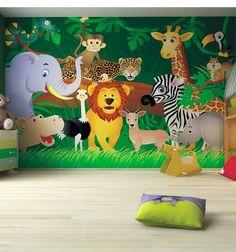 Kids Bedroom Ideas Zoo Wall Mural