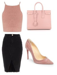 BussinesWoman Style by c-abrjolemmy ❤ liked on Polyvore featuring Christian Louboutin, SHE MADE ME, Yves Saint Laurent and River Island
