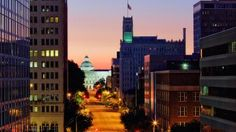 Government buildings and the Old Mississippi State Capitol, Jackson, Miss. © SuperStock/Getty Images
