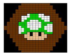 Super Mario Mushroom green
