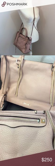 "REBECCA MINKOFF Vintage Rose Mauve Regan Satchel REBECCA MINKOFF Vintage Rose Dark Mauve Regan Satchel Handbag Purse Tote  Beautiful dark rose colored Regan satchel. Size is 13""W x 9""H x 6""D. Strap drop 19.5""-23"". Only areas of wear are a tiny spot on back of bag and wear to the bottom of the feet at the bottom of bag. Otherwise, in very good condition. Comes equipped also with dustbag as well as extra tassels. Perfect spring, summer bag but also a wonderful color for all year round! Rebecca…"