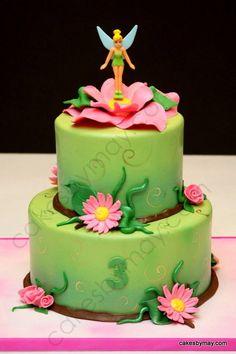 Tinker Bell Cake for Isabella. Cake by CakesbyMaylene