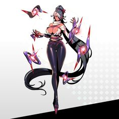 TATSUNE - 「凛妖殿」character concept art_female side original moba game character concept art, part 2 - ART by RYUSHiN . Female Character Design, Character Design References, Character Design Inspiration, Character Art, Anime Fantasy, Fantasy Girl, Fantasy Characters, Anime Characters, Anime Manga