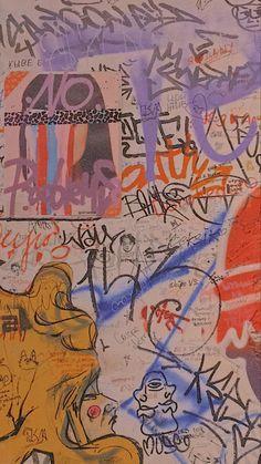 Wallpaper Iphone Cute, Aesthetic Iphone Wallpaper, Cute Wallpapers, Aesthetic Wallpapers, Collage Background, Photo Wall Collage, Collage Art, Hippie Art, Street Art Graffiti