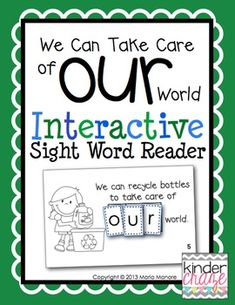 """Interactive Sight Word Readers allow students to read and spell sight words in a meaningful and engaging way. This is an emergent reader to provide students with an opportunity to read and spell the sight word """"our"""" in a hands-on way . Sight Word Readers, Sight Word Games, Sight Word Activities, Sight Words, Classroom Activities, Classroom Ideas, Reading Response Activities, Reading Centers, Guided Reading"""