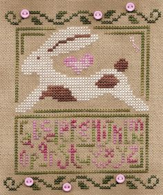 bunny ...Such a cute cross stitch! :D