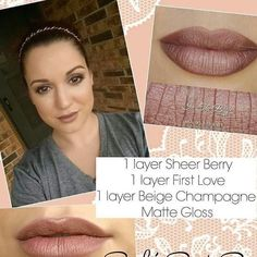 Check out this beautiful color made from sheer berry, first love, and beige champagne!! A more neutral color for every day wear!!