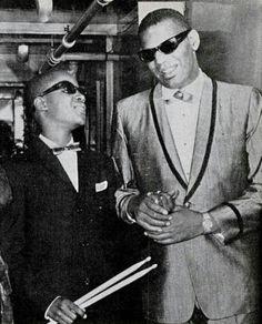 Ray Charles and Stevie Wonder