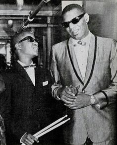 Ray Charles and Stevie Wonder