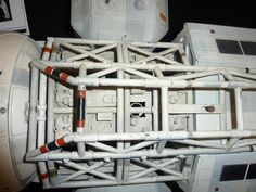 """Eagle corridor detail from original 44"""" production model built by Brian Johnson for the television series Space: 1999."""