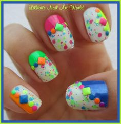Colorful and pretty nails!!