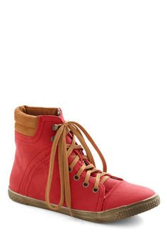 Busk in the Glory Sneaker in Red, #ModCloth