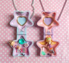 Polly Pocket Fairy Spells or Film Star locket necklace Fairy Spells, Polly Pocket World, Kids Bed Design, Poly Pocket, 80s Stuff, Pretty Star, 90s Childhood, Everything Pink, 90s Kids
