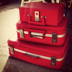 #Vintage suitcases #travel