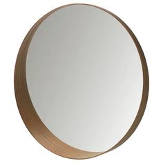 STOCKHOLM Mirror, walnut veneer, 31 The streamlined shape and the walnut veneer give each mirror a unique character. The frame around the bottom of the mirror forms a shelf where you can put your mobile phone or wallet. Ikea Stockholm, Stockholm Mirror Ikea, Round Wood Mirror, Circular Mirror, Round Mirrors, Ikea Mirror, Wood Circles, Small Shelves