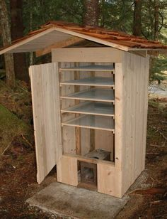 homemade wooden smoker - Google Search