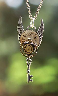 Steampunk Key Necklace - 097 on Etsy, $27.93 AUD