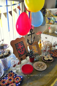 Nautical Birthday Party #nauticalparties #parties