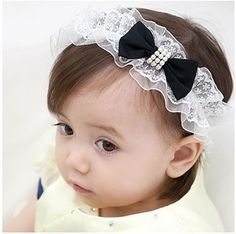 9fa3565f61cd ... Nice Girls Baby Large Elastic Hairbands Lace Syle For Kids Girl Black Bows  Headband from Reliable headband display suppliers on I Love Helen. Kids Hair  ...