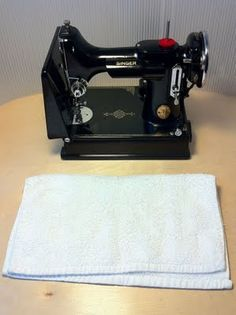 Oiling a Featherweight sewing machine