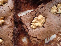 Brownies de nozes e caramelo