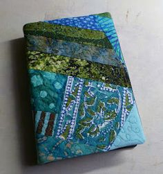 Tutorial for a nicer, tighter book cover INSIDE...The cover doesn't have to be quilted like this