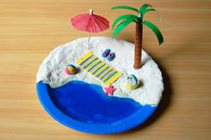 Find amazing summer-themed craft projects for kids to make such as hats, glasses, pinwheels, beach and ocean-themed crafts and other fun summer crafts. Sand Crafts, Beach Crafts, Foam Crafts, Summer Crafts, Craft Stick Crafts, Paper Crafts, 3d Paper, Summer Art, Preschool Crafts
