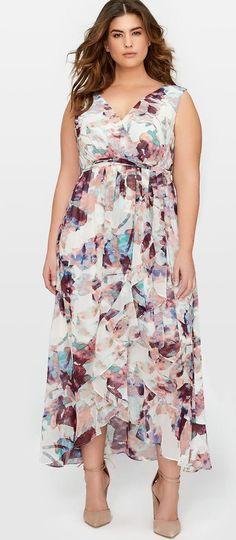 Plus Size Maxi Dress - Plus Size Fashion for Women #plussize